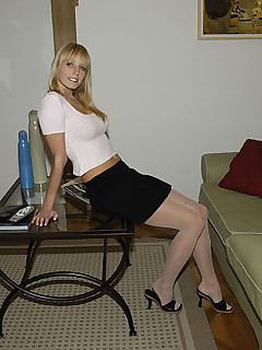 Pantyhose skirts stockings hairy